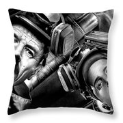 Walt And Jesse Super Lab Throw Pillow
