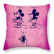 Walt Disney Mickey Mouse Toy Patent 2g Throw Pillow