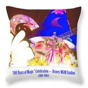 Walt Disney World 100 Years Of Magic Celebration 2001-2002 Throw Pillow