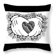 Walt Disney's Mickey Mouse Inspired Hands And Heart Throw Pillow