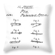 Walter Hunts Safety Pin Designs Throw Pillow