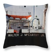 Walter J. Mccarthy Jr. Closeup 112917 Throw Pillow