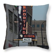 Walter Nippers Sporting Goods Throw Pillow