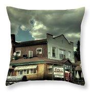 Walt's Diner - Vintage Postcard Throw Pillow
