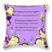 Waltz Of The Flowers Dancing Iris Throw Pillow