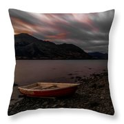 Wanaka Rowboat 2 Throw Pillow