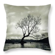 Wanaka Tree - New Zealand  Throw Pillow