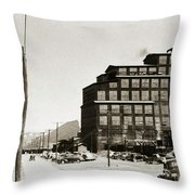Wanamie Pa Wanamie  Number 18 Coal Breaker 1944 Throw Pillow