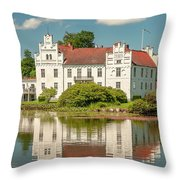 Wanas Castle And Reflection Throw Pillow