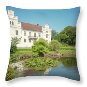 Wanas Castle Duck Pond Throw Pillow
