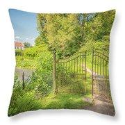Wanas Castle Secret Gate Throw Pillow