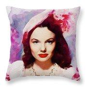 Wanda Hendrix, Vintage Movie Star Throw Pillow