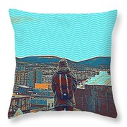 Wander For A Bit Poster Throw Pillow