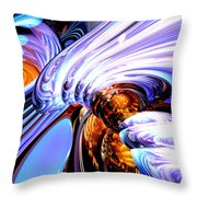 Wandering Helix Abstract Throw Pillow