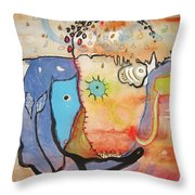 Wandering In Thought Throw Pillow
