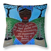 Wangari Maathai Throw Pillow