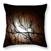 Waning Crescent Moon 2 Throw Pillow