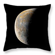 Waning Crescent Moon / Day 23 Throw Pillow