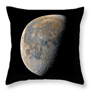 Waning Gibbous Moon / Day 21 Throw Pillow