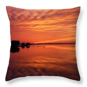 Waning West Throw Pillow