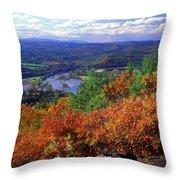 Wantatisquet Mountain Foliage Throw Pillow