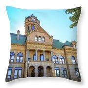 Wapakoneta Ohio Court House Throw Pillow