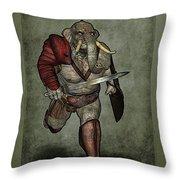 War Beast Throw Pillow