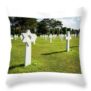 War Crosses In Normandy Throw Pillow