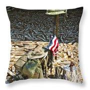 War Dogs Sacrifice Throw Pillow by Carolyn Marshall
