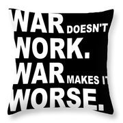War Throw Pillow by Eikoni Images