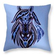 War Horse 3 Throw Pillow