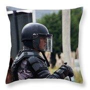 War Horse IIi - Tarqui Protest Throw Pillow