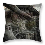 War Plane Propeller Throw Pillow