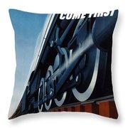 War Traffic Must Come First Throw Pillow