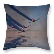 Warbirds On Mission Throw Pillow