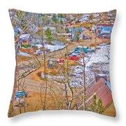 Ward Boulder County Colorado  Throw Pillow