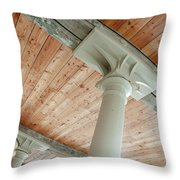 Warehouse Columns Throw Pillow