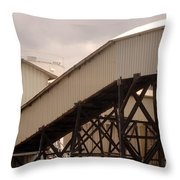 Warehouse Passage Throw Pillow