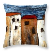 Warehouse Row Throw Pillow