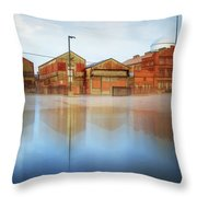 Warehouses Throw Pillow