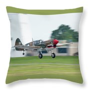 Warhawk Rolling Out Throw Pillow
