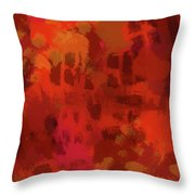 Warm Abstract 1 Throw Pillow