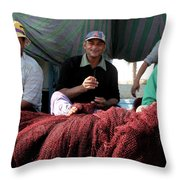 Warm And Work  Throw Pillow