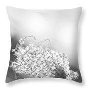 Warm Breeze - Black And White Version Throw Pillow