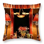 Warm Buffet Throw Pillow by Kristin Elmquist