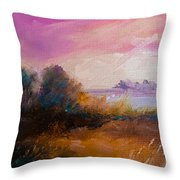 Warm Colorful Landscape Throw Pillow