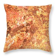Warm Colors Natural Canvas 2 Throw Pillow