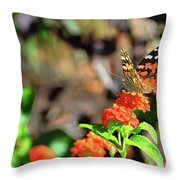 Warm Fall Day Throw Pillow