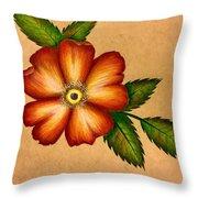 Warm Flower Throw Pillow