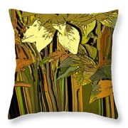 Warm Leaves Throw Pillow